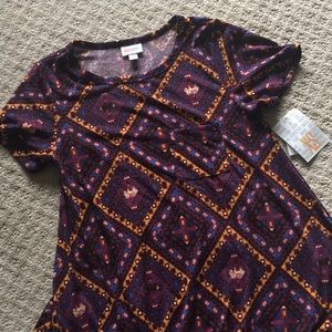 🐘 NWT LuLaRoe XS Carly! Purple, gold, 🐘 🦄